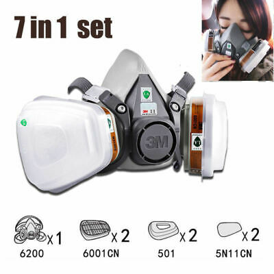Original 3M 6200 6001 Face Dust Gas Mask Respirator Safety Painting Spraying AU