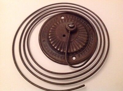 Wall Clock Chime Round Wire Gong Antique Clock Part Iron Base 53 Total 105mm
