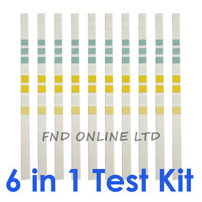 6 in 1 Aquarium Water Tropical Test Kit Fish Tank Nitrate Nitrite PH kh