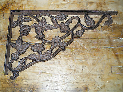 8 Cast Iron Antique Style HUMMINGBIRD Brackets, Garden Braces Shelf Bracket