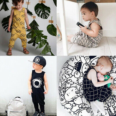Kids Baby Boy Girls Cotton Jumpsuit Romper Outfit Newborn Infant Summer Bodysuit