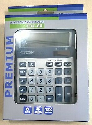 Calculatrice de Bureau Citizen CDC 80 Premium (Neuve)