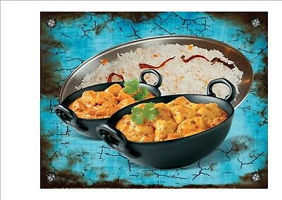 Cafe Sign Vintage Style Cafe Sign Shop Sign Indian Takeaway  Kitchen Sign Curry
