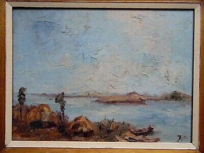 African Landscape, Impasto Oil by Josef Steins. Listed. Chelsea Gallery Prov.