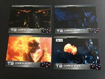 2017 Unstoppable Cards TERMINATOR T2 4 Card  Limited PROMO Set of 200 PS1-PS4