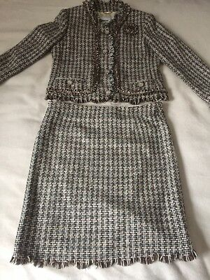 MOSCHINO Vintage Skirt Suit Separates Size 14