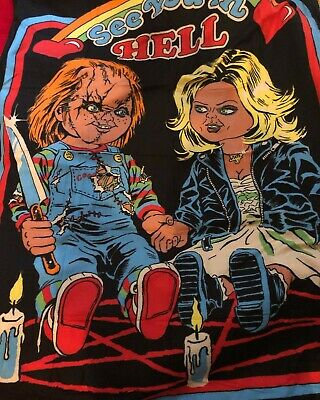 Chucky Bride of Chucky Soft Throw Blanket Loot Fright Crate NEW Horror 2019