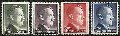 Germany Third Reich 1942 MNH - Hitler Definitives 1RM - 5RM - P 12.5 - 799-802