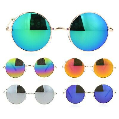 3aa2e94cb0b REFLECTIVE COLOR MIRRORED Hippie Groove Round Circle Lens Retro ...
