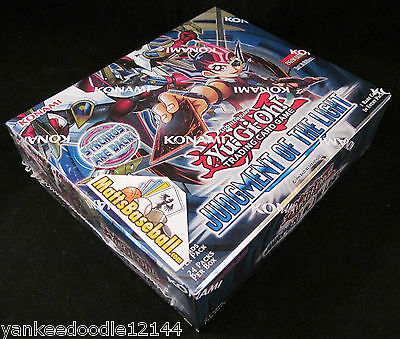 YUGIOH JUDGMENT OF THE LIGHT 1ST EDITION JOTL Factory Sealed Booster Box, 24 pks