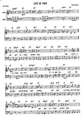Newly Written Song - Complete With Dots And Lyrics - Score