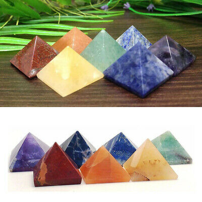 Natural Crystal Agate Pyramid Polished Stone Gem Jewelry Making Home Decor NEW