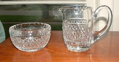 Waterford Colleen Short Stem Creamer And Sugar Bowl / Mint  Condition
