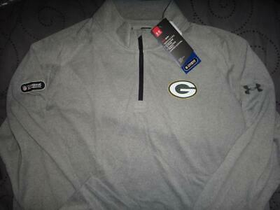 9f89ca1b UNDER ARMOUR GREEN Bay Packers Nfl Combine 1/4 Zip Pullover Men Nwt $$$$
