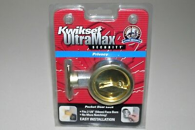 Kwikset  ultramax   pocket cavity sliding Privacy  door lock   polished Gold