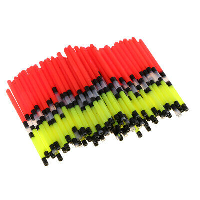 100x Plastic Fishing Floats Vertical Buoy Long Tail Float Floating Tube