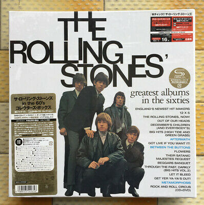 Greatest Albums in Sixties ROLLING STONES Mini-LP 17 CD+DVD Box AUTHENTIC JAPAN