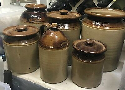 6 Bennetts Magill Pottery Ceramic containers