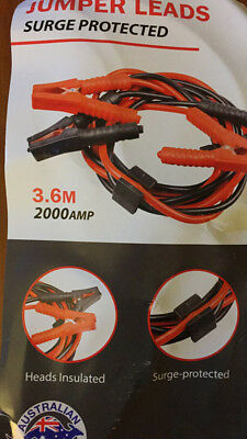Jumper Leads Long Surge Protect Heavy Duty Car Jump Booster Cables 2000AMP 3.6M