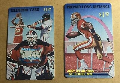 1995 National Sports Collector's Convention Phone Cards HTF