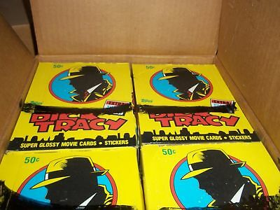 1990 Topps Dick Tracy Unopened Wax Box Lot of 20 Boxes w/ 36 Packs per Box Nice!