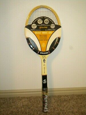 RARE MINT UNUSED Spalding Pancho Gonzales Signature Racquet with Advertisement