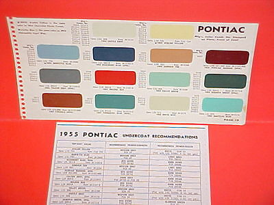 1955 Pontiac Chieftain Star Chief Convertible Catalina Safari Paint Chips Sw