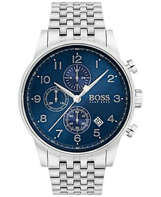 Hugo Boss Navigator Chronograph Blue Dial Stainless Steel Men s Watch  1513498 ce8c509388
