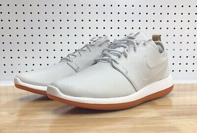 sports shoes a93a7 5f942 Nike Roshe Two Leather Premium Mens 881987-100 Off White Grey Gum Shoes  Size 9.5