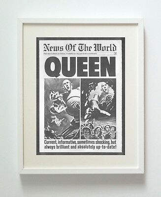 Queen News Of The World A3 Repro Print Poster Unframed Hq 216Gsm Matte Pro