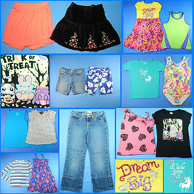 15 Piece Lot of Nice Clean Girls Size 7 Spring Summer Everyday Clothes ss19