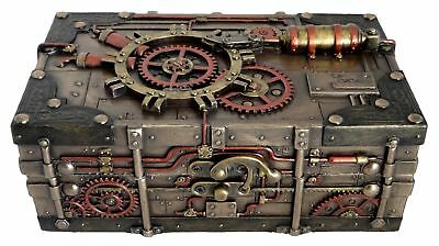 Veronese Bronze Figurine Steam Punk Steampunk Art Treasure Box new