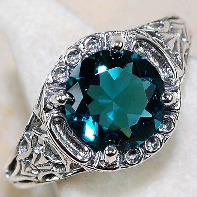 KQ_ Women Big Rhinestone Inlaid Hollow Carving Ring Vintage Party Jewelry Cheap