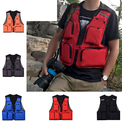Cool AU stock Outdoor Waterproof Breathable Multi Pocket V-neck Reflective Fishi