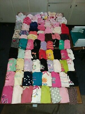 Huge 92 Piece Lot Baby Girl Clothes Sizes Newborn & 0-3 months sleepers outfits.