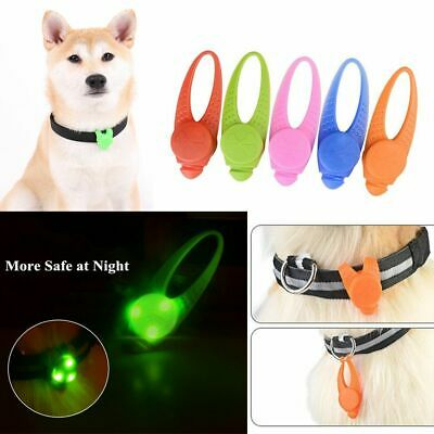 LED Silicone Pet Luminous Pendant Cat Tags Glowing Collar Light Dog Necklace