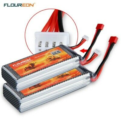 2X FLOUREON 11.1V 5500mAh 3S 35C Lipo RC Batterie for RC Helicopter RC Airplane