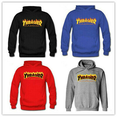 Unisex Men Women Hip Hop Hoodie Sweatshirt Tops Unisex Thrasher Pullover Coats