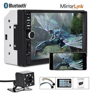 """New 7"""" 2 Din Touch Screen Car MP5 Player Bluetooth Stereo FM Radio USB/TF AUX In"""