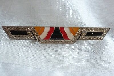 Vintage Jewellery Stunning Art Deco Style Attractive Bar Brooch Pin Clip