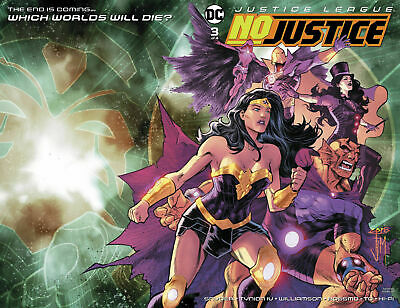 Justice League No Justice #3 Wraparound Cover DC comic 1st Print 2018 NM