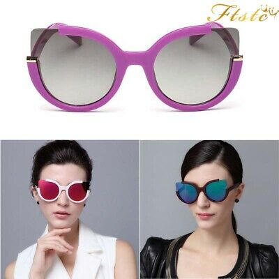 Luxury Ladies Womens Oversized Cat Eye Sunglasses Vintage Style Retro Shades -EA