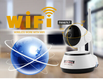 WiFi IP Camera Home Security 1080P Night Vision Infrared Two Way Audio