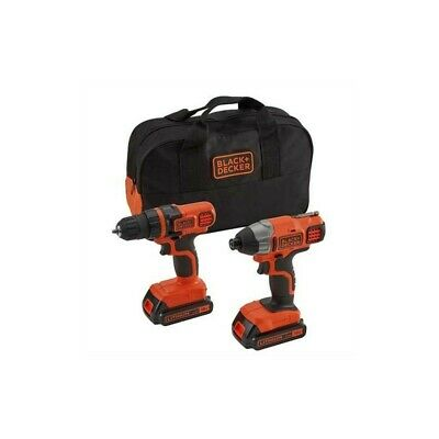 Black&Decker Bdcddim18B Pack Trapano + Avvitatore Impulsi Con Batteria Litio 18V