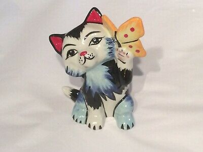 Lorna Bailey Cat With Butterfly Figure