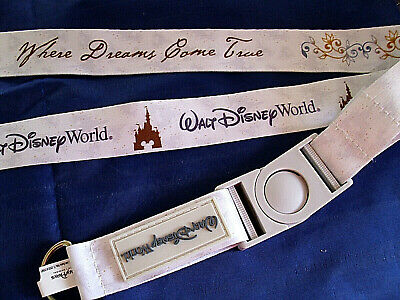 Walt Disney World * WHERE DREAMS COME TRUE * Reversible Pin Trading Lanyard