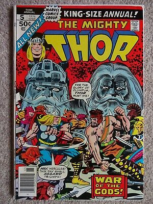 THOR KING SIZE ANNUAL No. 5 1976 (Very Fine-/Fine+)