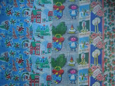 SALE - Vintage Christmas Wrapping Paper - 6 Different Sheets, New Old Stock