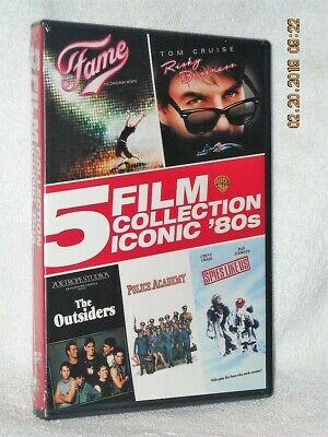 Iconic 80's 5 Film Collection (DVD, 2016, 5-Disc) NEW action drama Tom Cruise