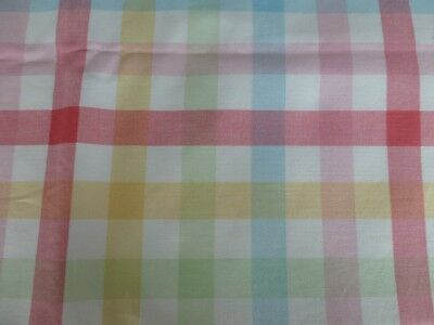 """Laura Ashley Vintage Pink*Yellow*Blue Cove Check cotton fabric~54""""x 20"""" ~1/2 mtr"""